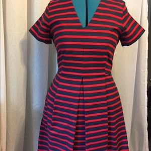 Navy & Red Dress Size 8 Gap